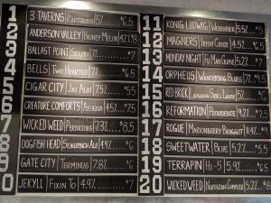 The Beer Board - beers on draft