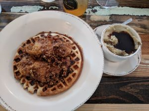 Chicken and Waffles (with mashed potatoes)